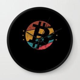 Bitcoin Vintage Design - Bitcoin And Crypto Wall Clock