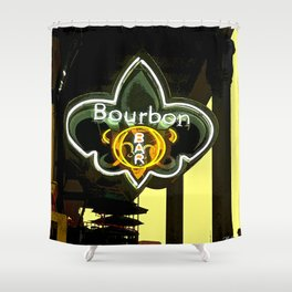 New Orleans Bourbon Street Bar Shower Curtain