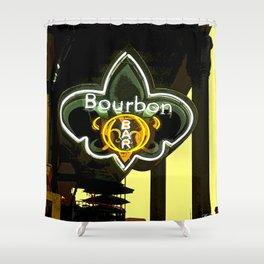 New Orleans Bourbon Street Bar Shower Curtain