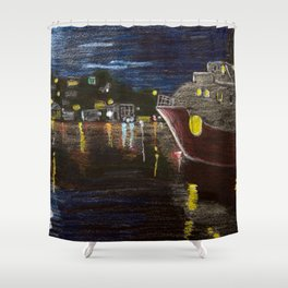 Moonlit Carenage Shower Curtain