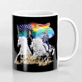 Preposterous Presidents - Barack and Michelle Obama - Unicorn Pride Coffee Mug