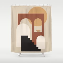HOME - abstract minimalist art Shower Curtain