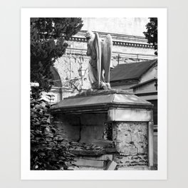 ancient angel on the memorial Art Print