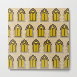 Gothic Windows // Stone Castle Metal Print