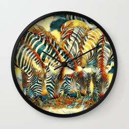 AnimalArt_Zebra_20170602_by_JAMColorsSpecial Wall Clock