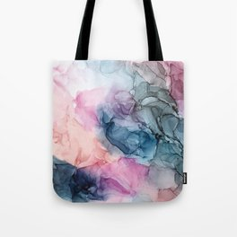 Heavenly Pastels: Original Abstract Ink Painting Tote Bag