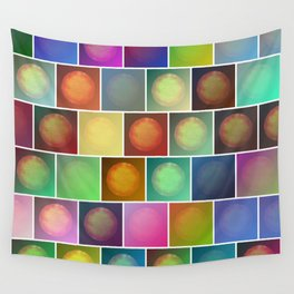 Multicolored suns Wall Tapestry