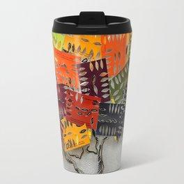 Paint Swatch Stencil Tree Travel Mug