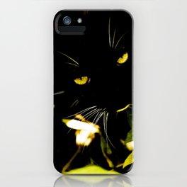 Cat hidden in the bushes  iPhone Case