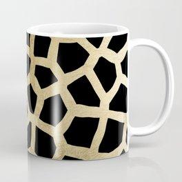 Modern luxury black and gold foil animal print Coffee Mug