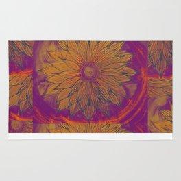 sunflower aura Rug