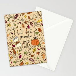 But First, Pumpkin Spice Latte Stationery Cards