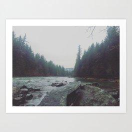 Quiet River Art Print
