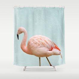 Flamingo Summer Vibes Shower Curtain