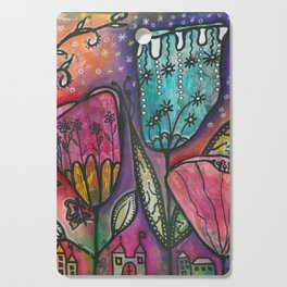 They live under flowers Cutting Board