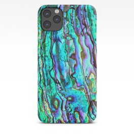 Glowing Aqua Abalone Shell Mother of Pearl iPhone Case