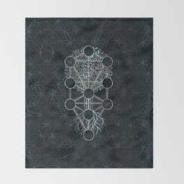 Kabbalah The Tree of Life - Etz Hayim Throw Blanket