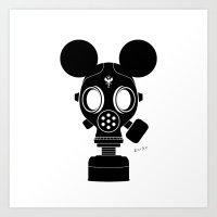 Post World Zuno : Gas Mask 01 Art Print