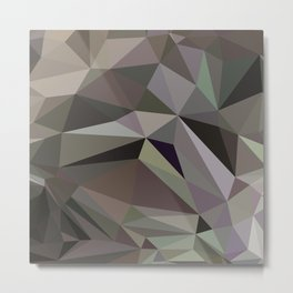 Abstraction Low poly Metal Print