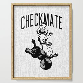 Checkmate Punch Funny Boxing Chess Serving Tray