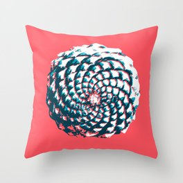 pine cone pattern in coral, aqua and indigo Throw Pillow
