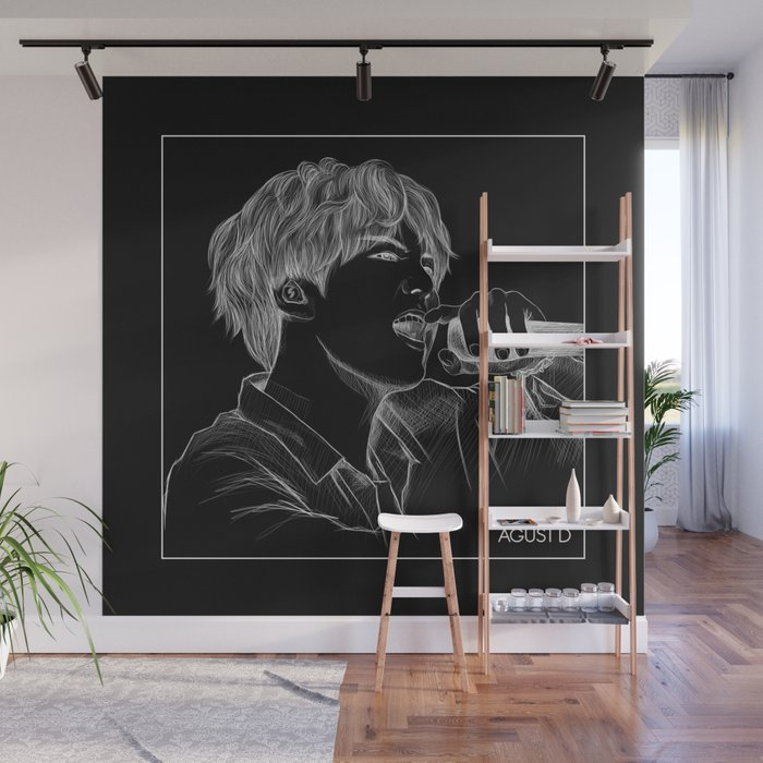 Bts Suga Sketch Wall Mural By Moritajung