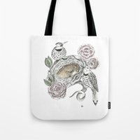 guardians Tote Bags featuring Guardians by KC Gillies