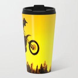 Sunset Run - Motocross Racer Travel Mug
