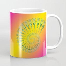Spiral Tribal Turtle Shell Tropical Coffee Mug