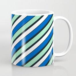 TEAM COLORS 1...Blue and aqua Coffee Mug