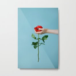 rose/oil Metal Print
