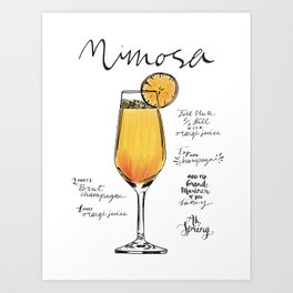 The Drink Collective: Mimosa Art Print