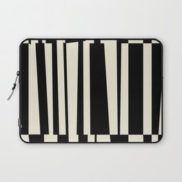 BW Oddities III - Black and White Mid Century Modern Geometric Abstract Laptop Sleeve