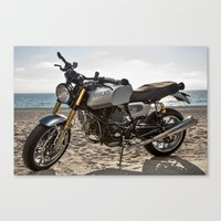 ducati Canvas Prints featuring Ducati 001 by Austin Winchell