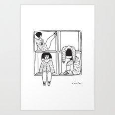 Compartmentalizing Art Print