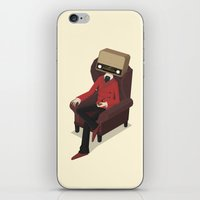 radiohead iPhone & iPod Skins featuring Radiohead by Anthony Massingham
