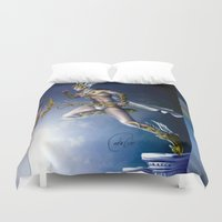versace Duvet Covers featuring VERSACE GOD by CARLOSGZZ
