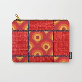 Red Vinyl Print Carry-All Pouch