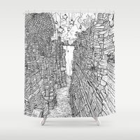 library Shower Curtains featuring the Library by KadetKat