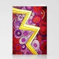 lightning Stationery Cards featuring Lightning by DuckyB