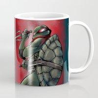 tmnt Mugs featuring Raphael . TMNT by Moonsia