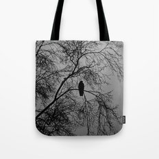 The Sentinal ~ Grey Abstract Tote Bag