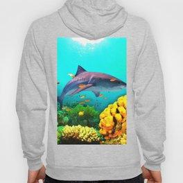 Shark in the water Hoody