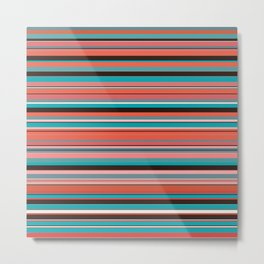 Summer Stripes Metal Print