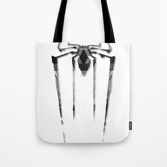Amazing Spiderman B/W Tote Bag