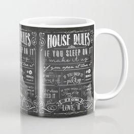 House Rules Retro Chalkboard Coffee Mug