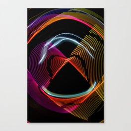 Experiments in Light Abstraction 1 Canvas Print
