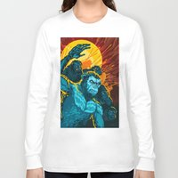planet of the apes Long Sleeve T-shirts featuring Dawn Of The Planet Of The Apes by KD Artwork