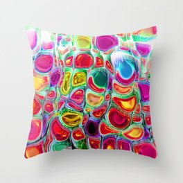 Slipping & Sliding - Joyful Pattern #society6 #lifestyle Throw Pillow