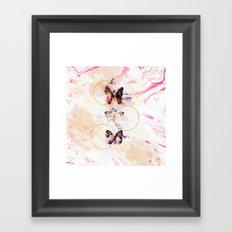 Abstract butterflies Framed Art Print